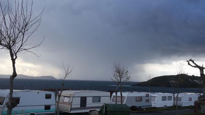 Wetterstimmung in Portonovo