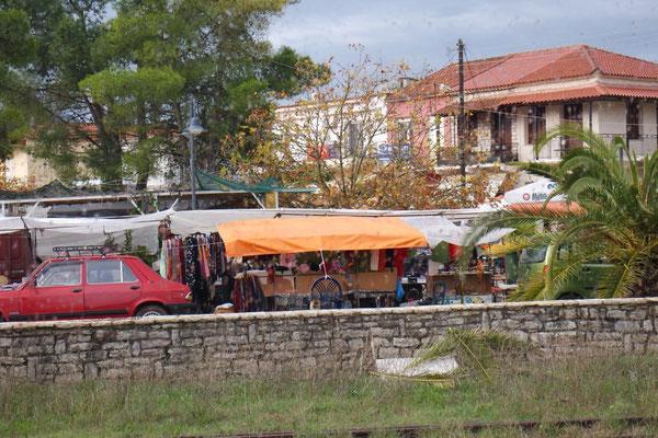 Unser Ausblick zum Markt von Kopanaki