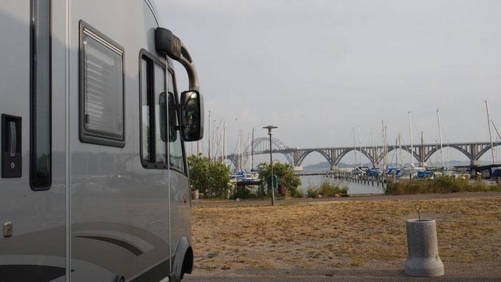 Erstes Nachtlager am Hafen in Kalvehave