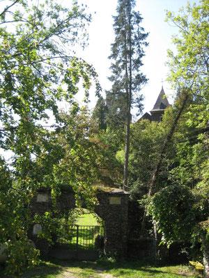 Kein Zutritt zur Burgruine Falkenstein weil Privatbesitz