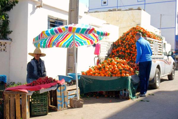 Orangenverkauf in Oualidia