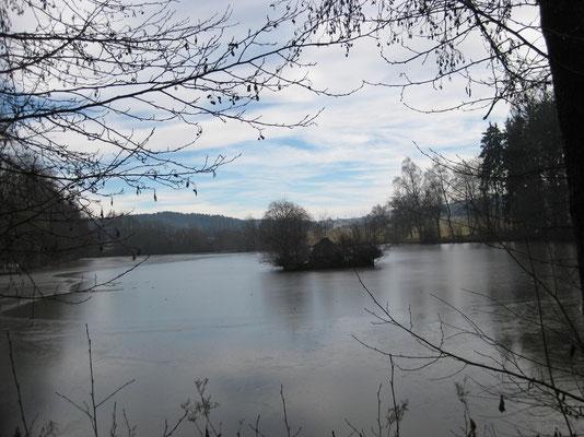 Am Salinensee in der Umgebung von Bad Dürrheim