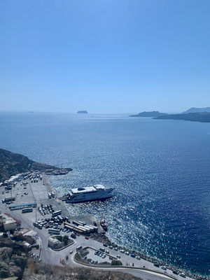Im Hafen liegt unser SeaJet bereit für die Rückfahrt