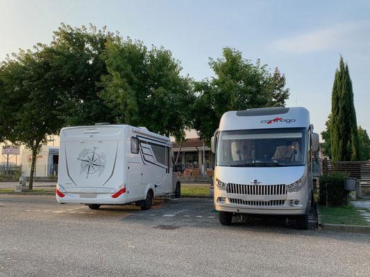 bereit für unseren ByeByeTreff in Occimiano mit MaPe, die am nordwärts Fahren sind