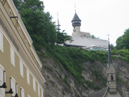Der Mönchsberg von unten