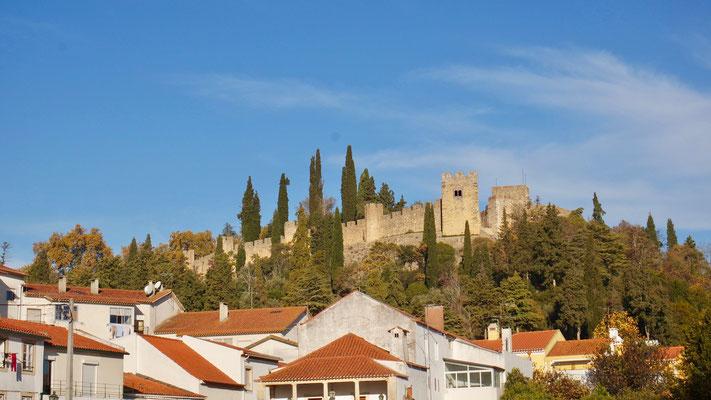 Die Kreuzritterburg thront über Tomar, das ca. 100 km nordöstlich von Lissabon liegt