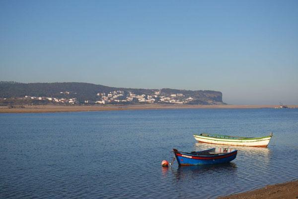 Die Aussicht zur Lagune von Òbidos