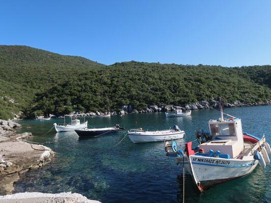 .... beim malerischen Fischerhafen