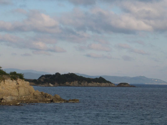 Ausblick zur Insel Les Porquerolles