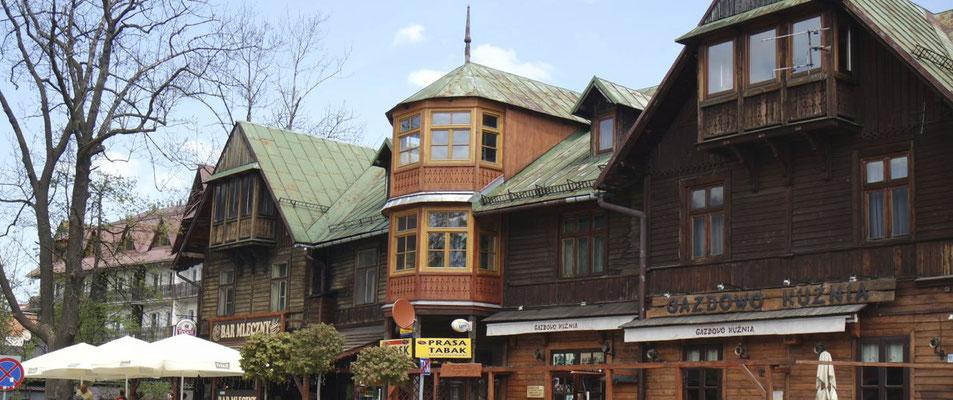 Typischer Baustil polnischer Häuser in Zakopane