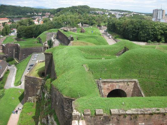 Auf der Festungsanlage in Belfort