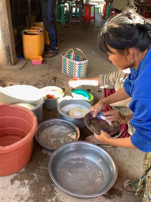 Abwasch auf burmesisch