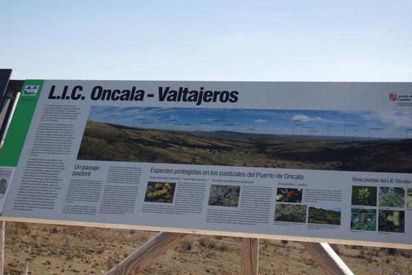 Aussagekräftige Infotafel im Naturpark Leonardo de Yagüe ......