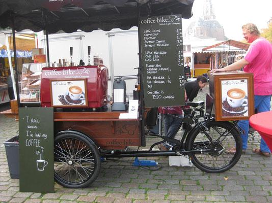 Eine Stärkung beim Coffee-bike