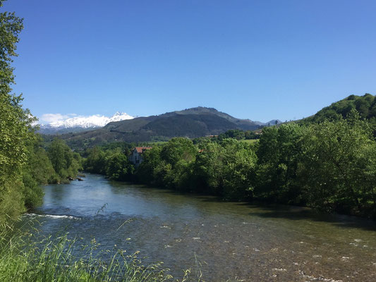 Wanderung entlang der Sella, in Cangas de Onis
