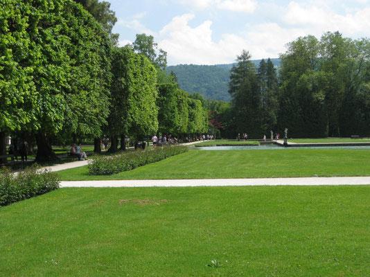 Ausschnitt des Schlossgärtchens vom Lustschloss Hellbrunn
