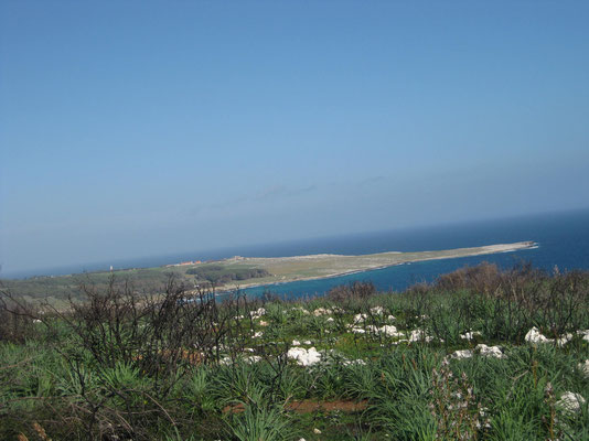 Blick zurück zur Bucht von Otranto