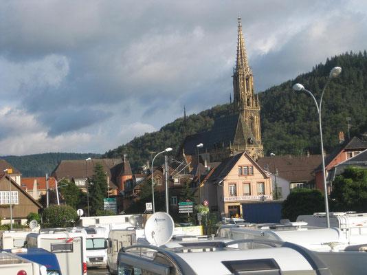 Über den Dächern vom Stellplatz in Thann