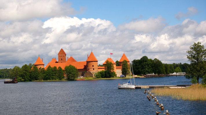 Die gotische Wasserburg ist DIE Sehenswürdigkeit von Trakai (Litauen)
