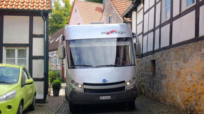 Rückwärtszufahrt in Tecklenburg ....