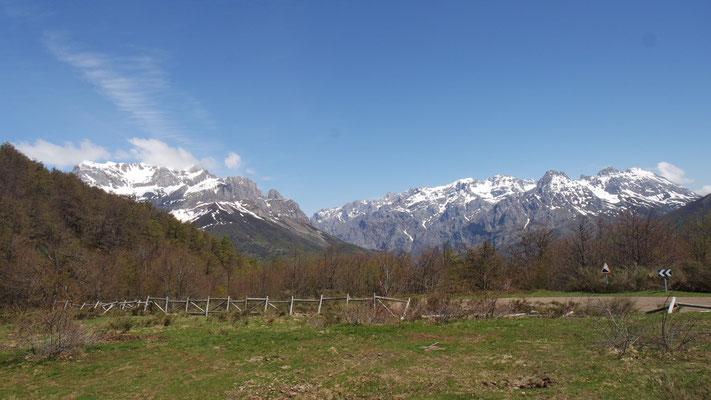 die herrlichen Gipfel im Nationalpark, der sich von Asturien bis nach Kantabrien erstreckt