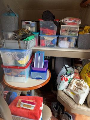 Ich bin auch ein Lagerraum - alles bereit für den Abholdienst!