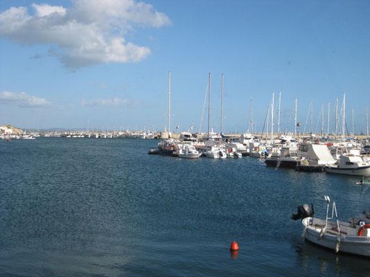 Unsere Hafenaussicht von Sciacca