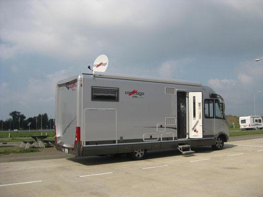 Fernsehpause auf der holländischen Autobahn: Moto-GP Misano und Tennis Daviscup Halbfinal