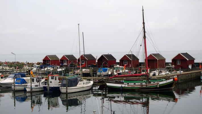 Typische Hafenstimmung in Rödvig, Dänemark