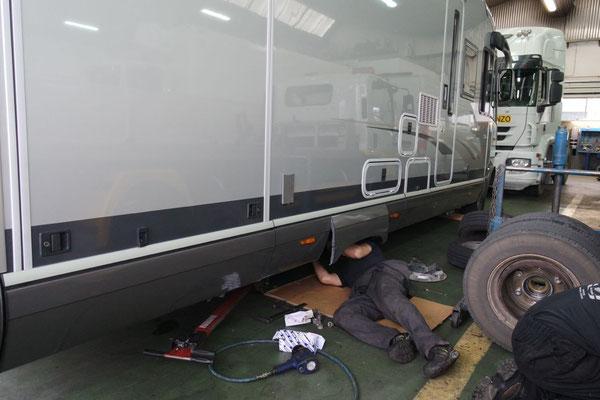 Action in der IVECO-Werkstatt in Logrono