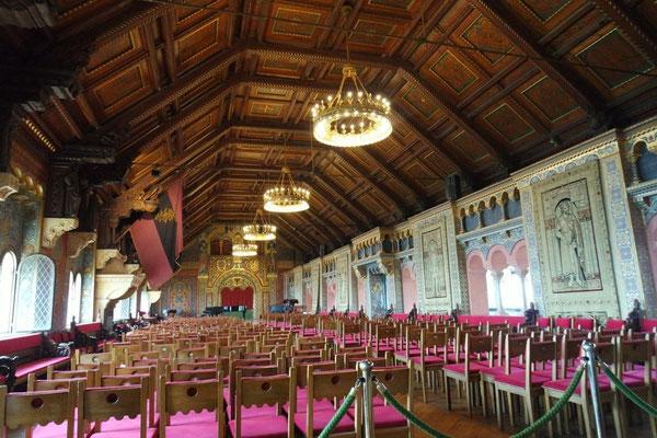 Im prunkvollen Festsaal finden regelmässig Konzerte statt
