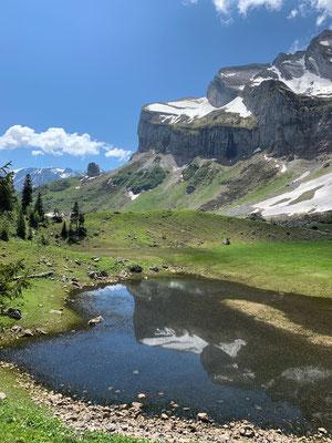 Das Bergetenseeli mit extrem wenig Wasser