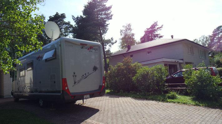 Für einige Tage unser ganz privater Standplatz in Uppsala