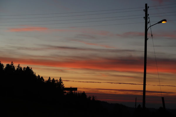 Abendrot über dem Zürcher Oberland