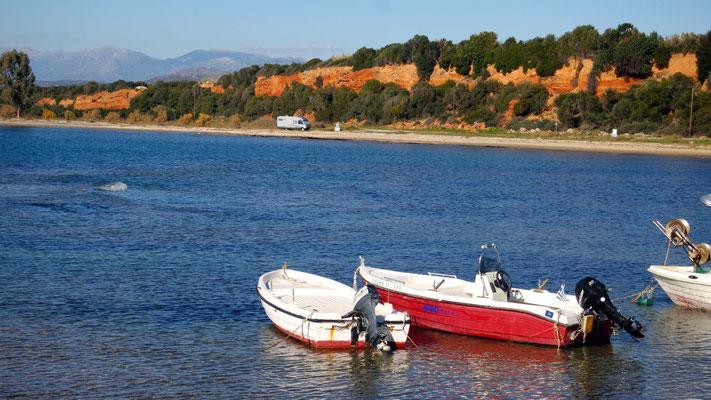 Am Strand von Agios Ioannis in Lakonien