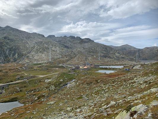 Auf der Gotthard Passhöhe