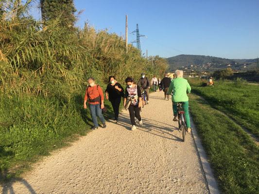 Die Flanier- und Fitnessmeile entlang dem Arno