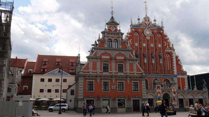 Prachtvolles Gildehaus der Schwarzhäupter zu Riga, der alten Hansestadt