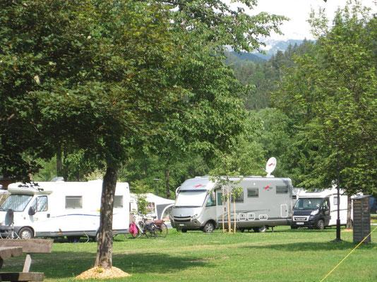 Auf dem Camping Danice in den julischen Alpen