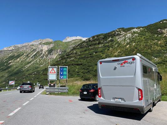 Erst noch auf der Arlberg-Passhöhe