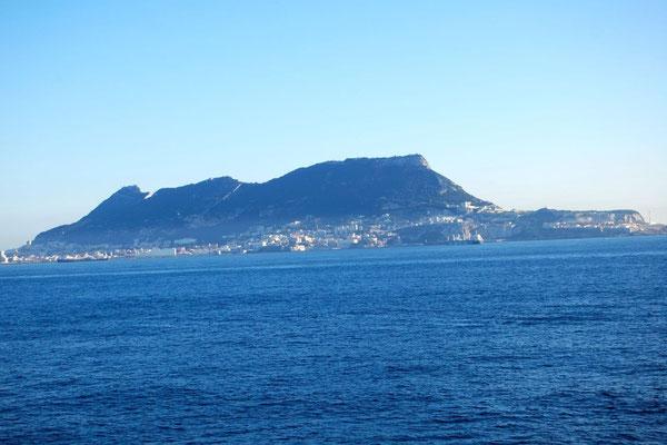 Blick zurück zum Fels von Gibraltar - bye bye Europa