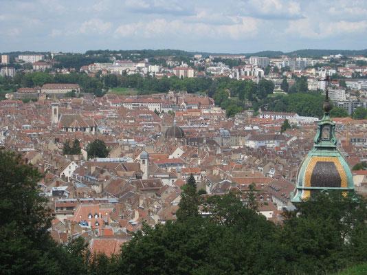 Blick auf Besançon von der Zitadelle