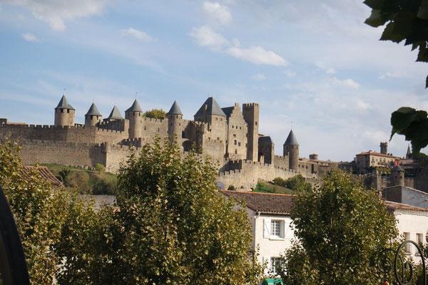 Carcassonne aus der Ferne