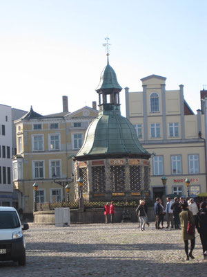 Der Wasserturm am Marktplatz