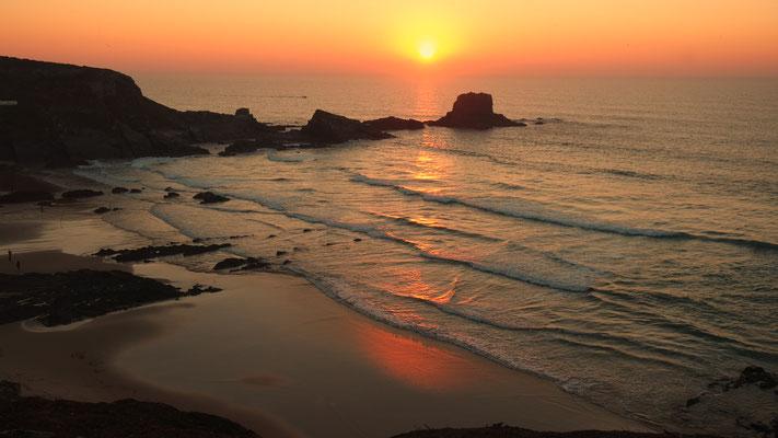 Bilderbuch-Sunset in Zambujeira do Mar