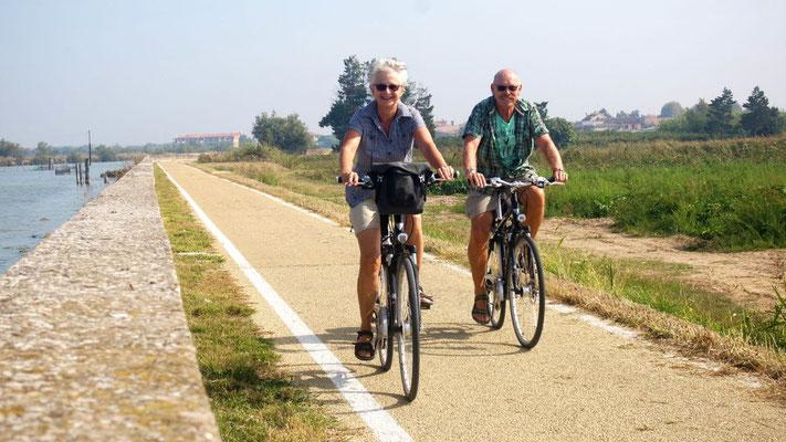 Erholung auf dem Rad - von Cavallino nach Punta Sabbioni