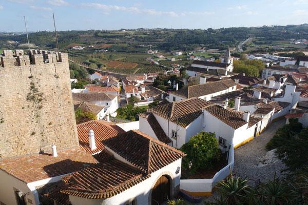 Ausblick ins Land von der Festungsmauer