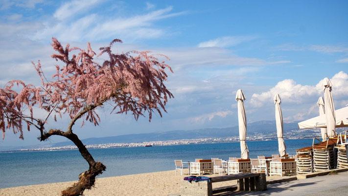 Blick von Perea hinüber nach Thessaloniki