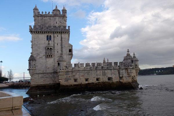 Das Wahrzeichen von Lissabon - der Torre de Belém
