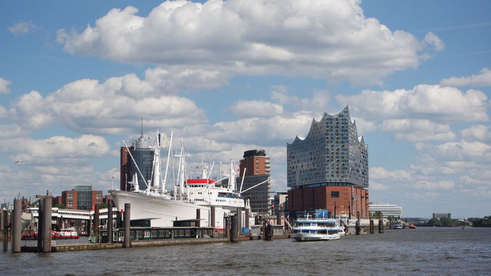 Modernes Hamburger-Kulturgebäude